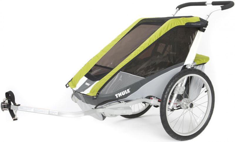 Thule Chariot Cougar 2 Avocado + Bike