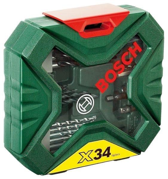Bosch 34 dílná sada vrtáků a šroubovacích bitů X-line Classic