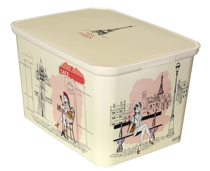 Curver Úložný box AMSTERDAM L Miss Paris