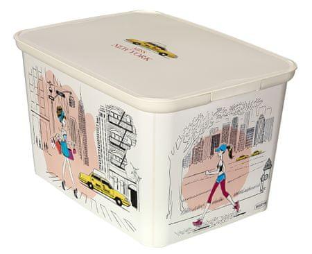 Curver škatla za shranjevanje Amsterdam Deco's L Miss New York