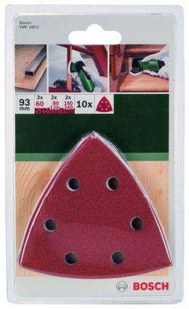 Bosch papier ścierny trójkątny, rozm. 93 - 10 szt