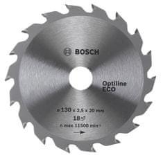 Bosch tarcza pilarska Optiline ECO 160x20/16x2,5 mm, 18 zębów