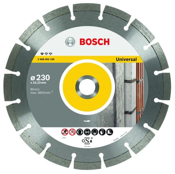 Bosch Diamantový kotouč 125mm , universal