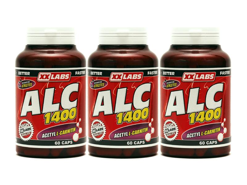 XXlabs Acetyl L-Carnitin 60 kapslí 2+1 ZDARMA