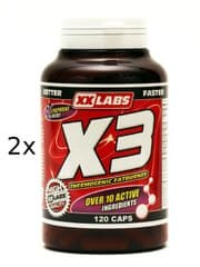 XXlabs X3 Thermogenic Fat Burner 120+120 tbl.