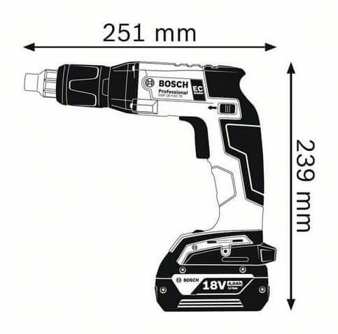 Bosch akumulatorski vijačnik GSR 18 V-EC TE SOLO karton (06019C8003)