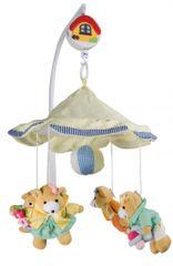 Canpol Babies 2/375 Karuzela pluszowa z baldachimem - Misie dziewczynki