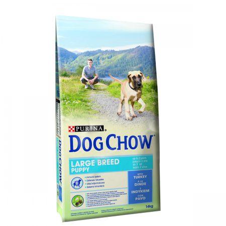 Purina Dog Chow hrana za pasje mladiče velikih pasem, puran, 14 kg
