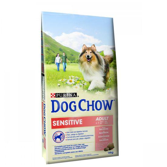Purina Dog Chow sucha karma dla psa Adult Sensitive Salmon 14 kg