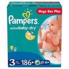 Pampers Active Baby MegaBox Plus 3 Midi - 186 ks