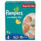 Pampers Active Baby MegaBox Plus 4 Maxi - 162 ks