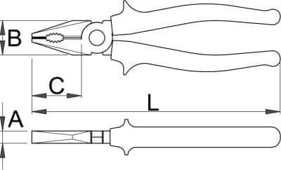 Unior Kombinirane klešče 406/4G, 180 mm, fosfatirane