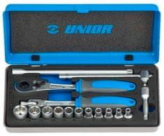 """Unior garnitura nasadnih ključev 1/4"""" v kovinski kaseti 188BI, 16 kom"""