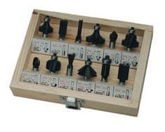 Profilni rezkarji za les v leseni embalaži, 12 kos