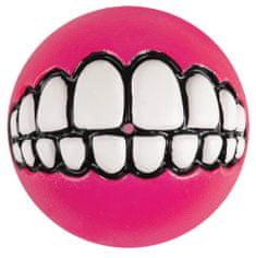 ROGZ GRINZ loptička so zubami ružová 7,8 cm