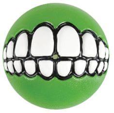 Rogz Grinz žoga z zobmi, zelena 7,8 cm