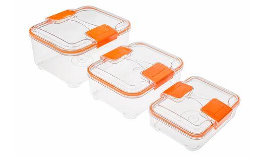 Status višji 3 - delni set posod za shranjevanje, oranžen
