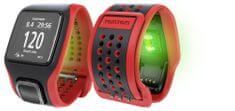 TomTom Multi-Sport Cardio CSS+AM GPS óra, Fekete/Piros