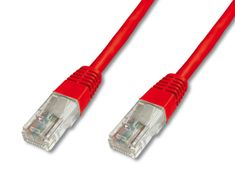 Digitus UTP mrežni kabel Cat5E patch, 3 m, rdeč