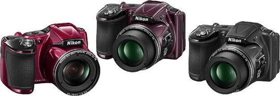 Nikon digitalni fotoaparat Coolpix L830, črn + darilo: Nikon SD 8GB + Nikon torba