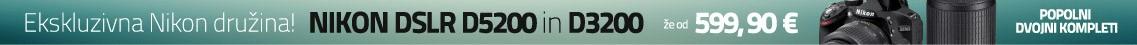 SI Nikon ponudba popolnih DSLR kompletov