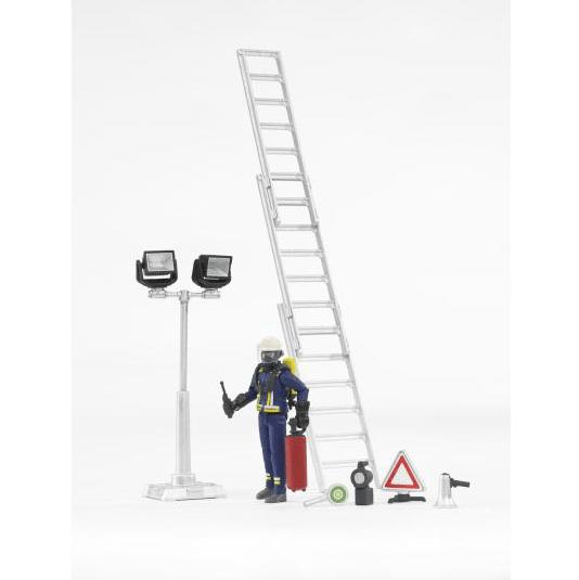 Bruder Požárnický set, figurka, žebřík, světlo