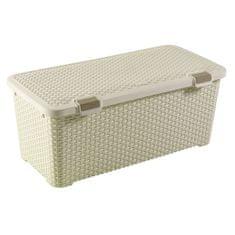 Curver škatla za shranjevanje iz ratana, 72 l, bela
