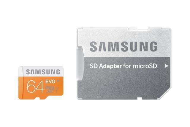 Samsung microSDXC 64GB EVO UHS-I (class 10) 48MB/s + adaptér na SD (MB-MP64DA/EU)