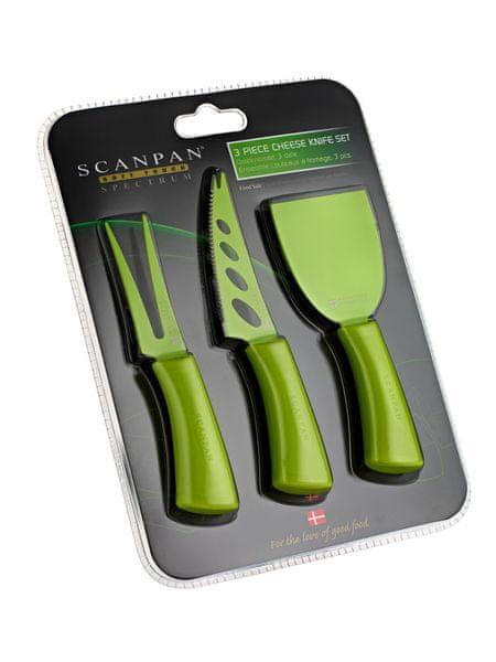 SCANPAN nože na sýr, zelená