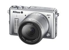 Nikon digitalni fotoaparat AW1 11-27, 5 mm, srebrn