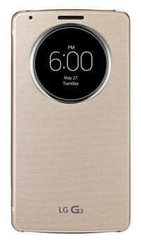 LG flipové pouzdro CCF-345, LG G3, zlatá