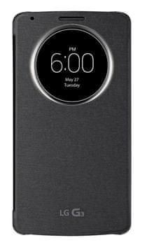 LG flipové pouzdro CCF-345, LG G3, černá