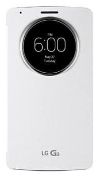 LG flipové pouzdro CCF-345, LG G3, bílá