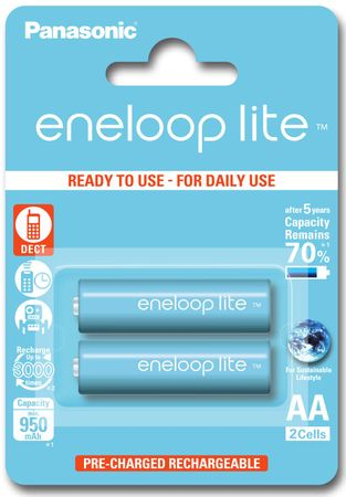Panasonic bateriji eneloop Lite AA, 2 kosa
