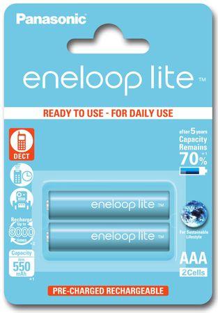 PANASONIC AAA 2ks 550 mAh Eneloop Lite (BK-4LCCE/2BE)