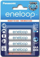 Panasonic Eneloop polnilne baterije AAA HR03 (Ready to use) 750 mAh