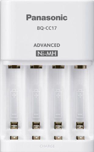 PANASONIC Advanced Akkumulátor töltő, 4 db AA elem