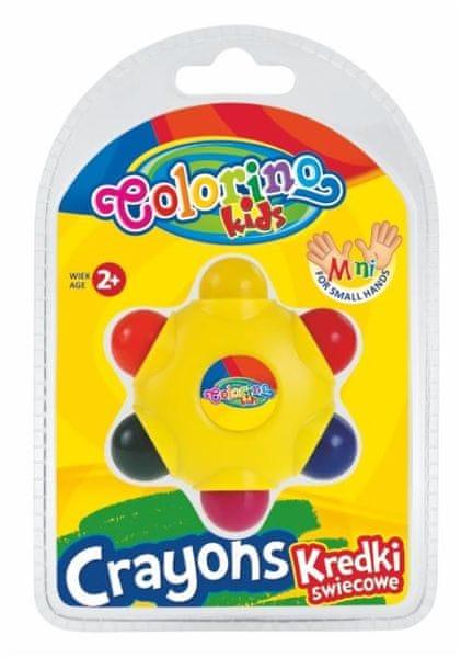 Pastelky voskové Colorino STAR 6 barev Kids 2+