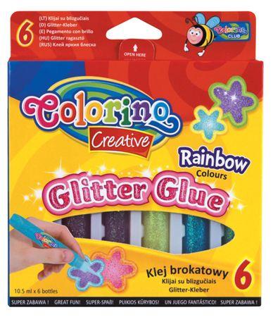 Lepidlo Colorino se třpytkami Rainbow, 6 barev