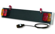 Menabo nosilec registrske tablice z lučmi (7 PIN)