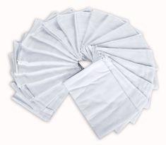 Sensillo Pielucha flanela biała, 60 x 80 cm, 20 sztuk