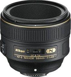 Nikon Nikkor AF-S 58 mm f/1,4 G + 2700 Kč zpět!