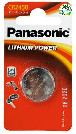 Panasonic baterija Lithium CR-2450L, 1 kos