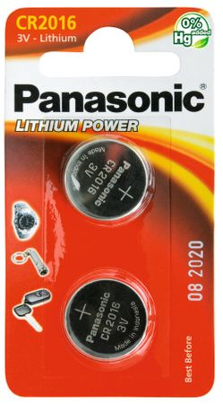 Panasonic Baterie Lithium CR-2016 2BP