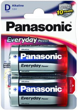 Panasonic baterija Everyday Power Silver LR20EPS/2BP, 2 kosa