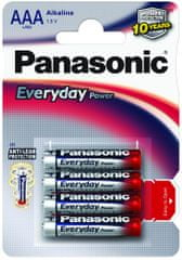 Panasonic set štirih baterij Everyday Power Silver LR03EPS