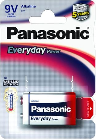 Panasonic baterija Everyday Power Silver 6LR61EPS, 9V