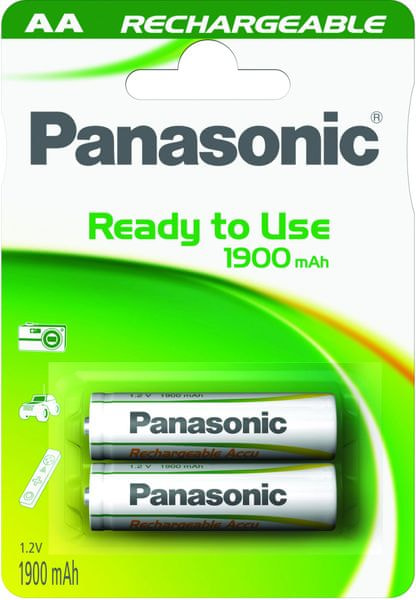 Panasonic AA 2ks 1900 mAh Ready To Use (HHR-3MVE/2BC)