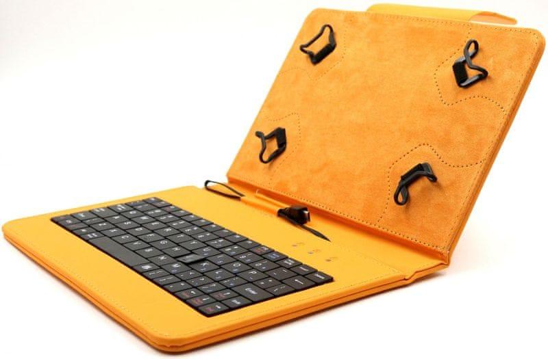 """C-Tech PROTECT pouzdro univerzální s klávesnicí pro 7""""-7,85"""" tablety, FlexGrip (NUTKC-01O) oranžové"""