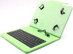 """C-Tech PROTECT pouzdro univerzální s klávesnicí pro 7""""-7,85"""" tablety, FlexGrip (NUTKC-01G) zelené"""